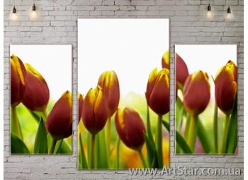 Модульные Картины Цветы, Art. FLOW777111