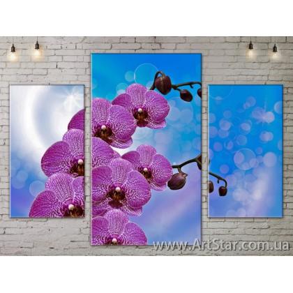 Модульные Картины Цветы, Art. FLOW777123
