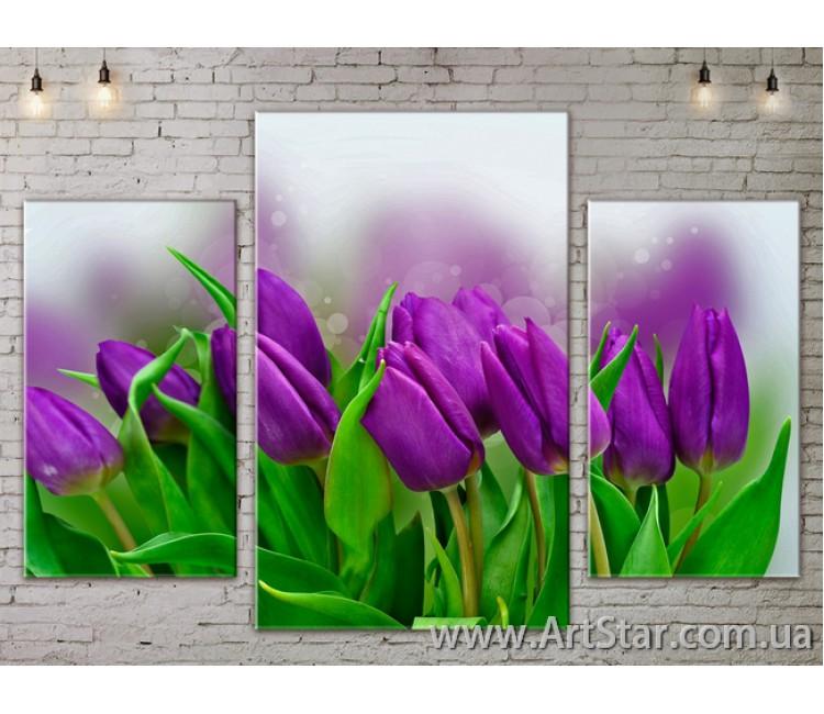 Модульные Картины Цветы, Art. FLOW777125
