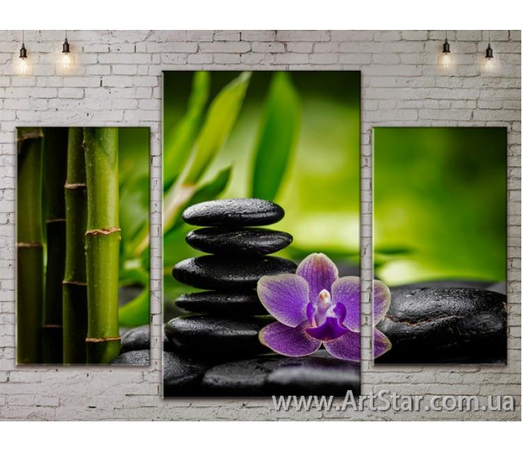 Модульные Картины Цветы, Art. FLOW777153
