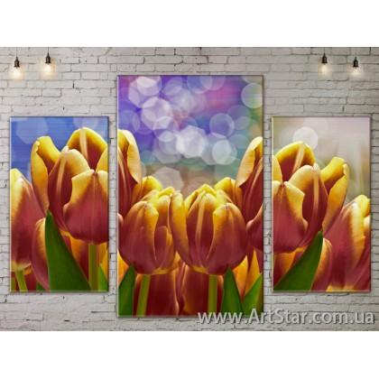 Модульные Картины Цветы, Art. FLOW777159