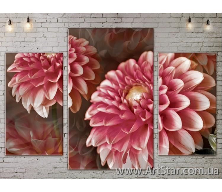 Модульные Картины Цветы, Art. FLOW777161