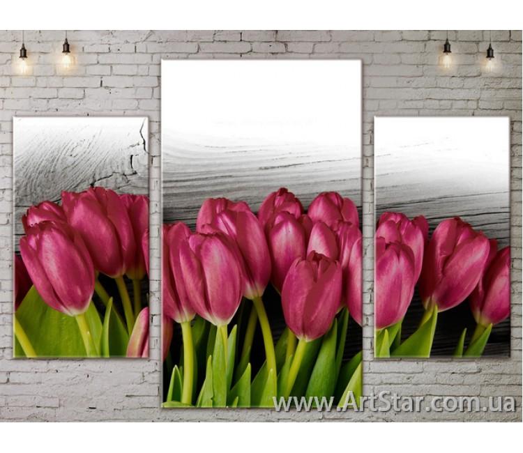 Модульные Картины Цветы, Art. FLOW777163