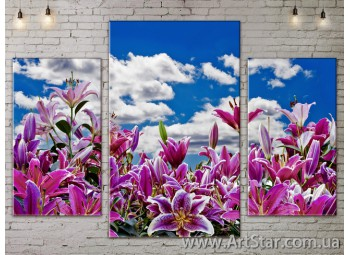 Модульные Картины Цветы, Art. FLOW777185