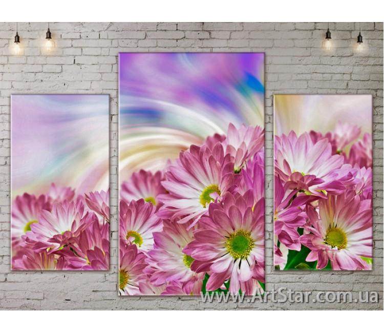 Модульные Картины Цветы, Art. FLOW777201