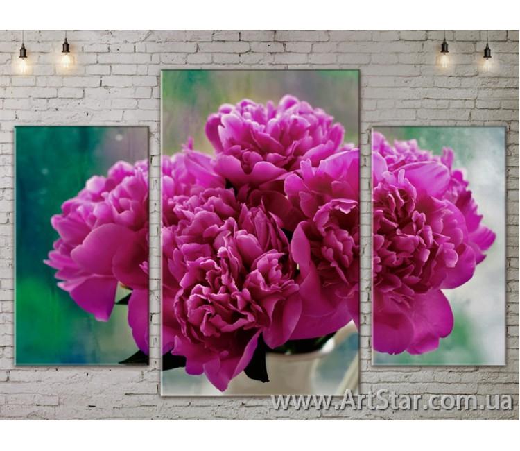 Модульные Картины Цветы, Art. FLOW777209
