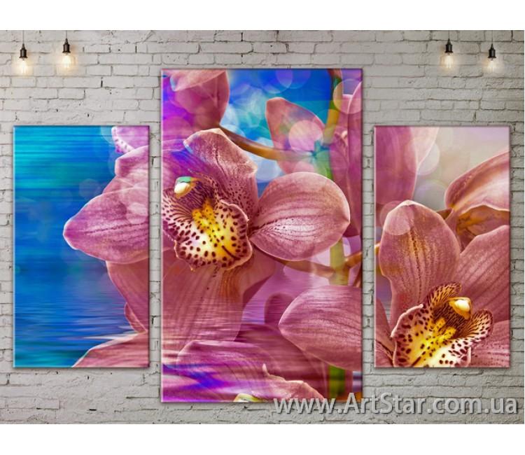 Модульные Картины Цветы, Art. FLOW777217