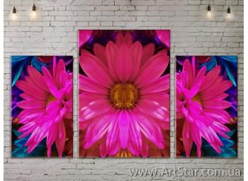 Модульные Картины Цветы, Art. FLOW777225