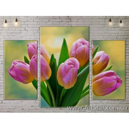 Модульные Картины Цветы, Art. FLOW777235
