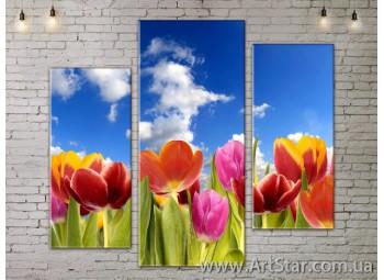 Модульные Картины, Цветы, Art. FLOW777239