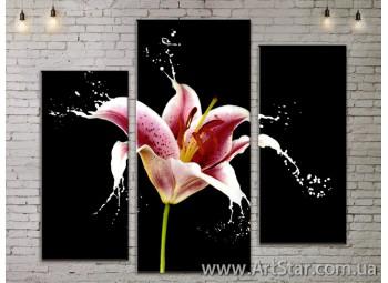 Модульные Картины, Цветы, Art. FLOW777251