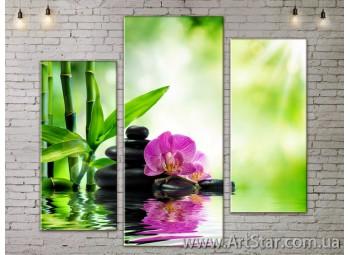 Модульные Картины, Цветы, Art. FLOW777255