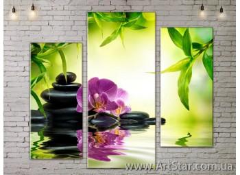 Модульные Картины, Цветы, Art. FLOW777259