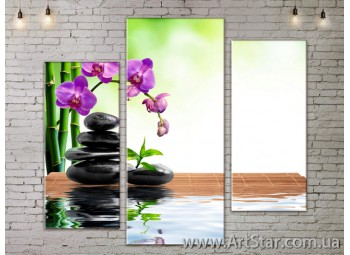 Модульные Картины, Цветы, Art. FLOW777263