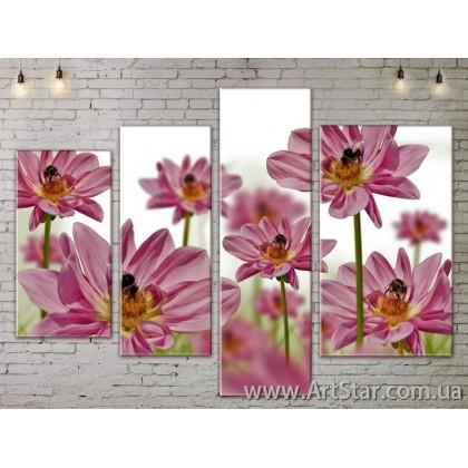 Модульные Картины, Цветы, Art. FLOW777286