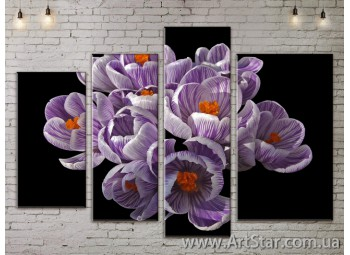 Модульные Картины, Цветы, Art. FLOW777290