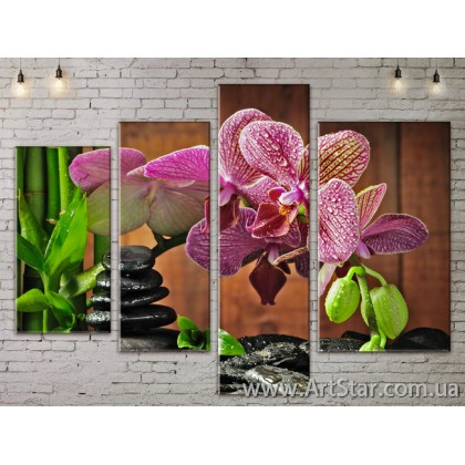 Модульные Картины, Цветы, Art. FLOW777298