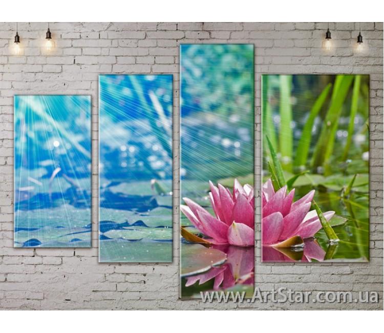 Модульные Картины, Цветы, Art. FLOW777304