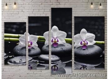 Модульные Картины, Цветы, Art. FLOW777318