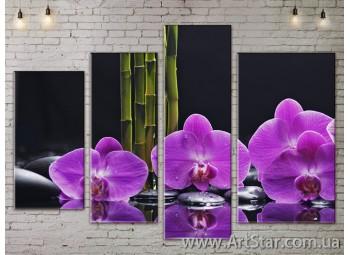 Модульные Картины, Цветы, Art. FLOW777330