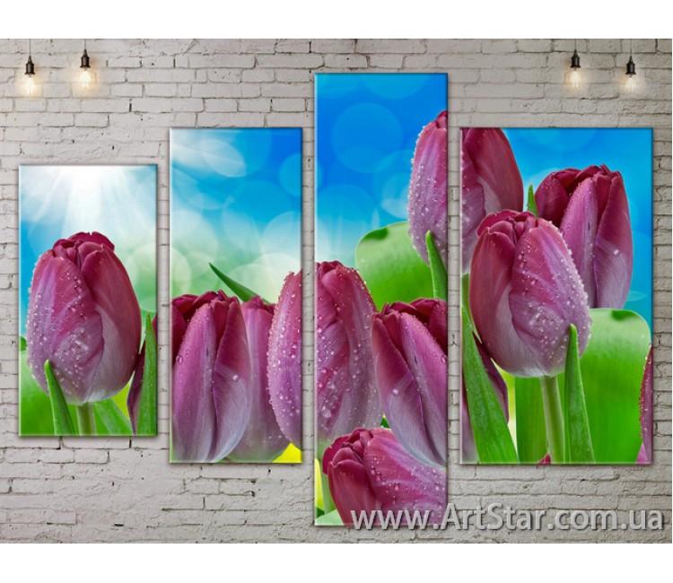 Модульные Картины, Цветы, Art. FLOW777344