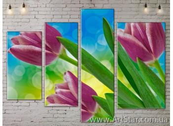 Модульные Картины, Цветы, Art. FLOW777352