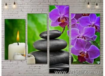 Модульные Картины, Цветы, Art. FLOW777358