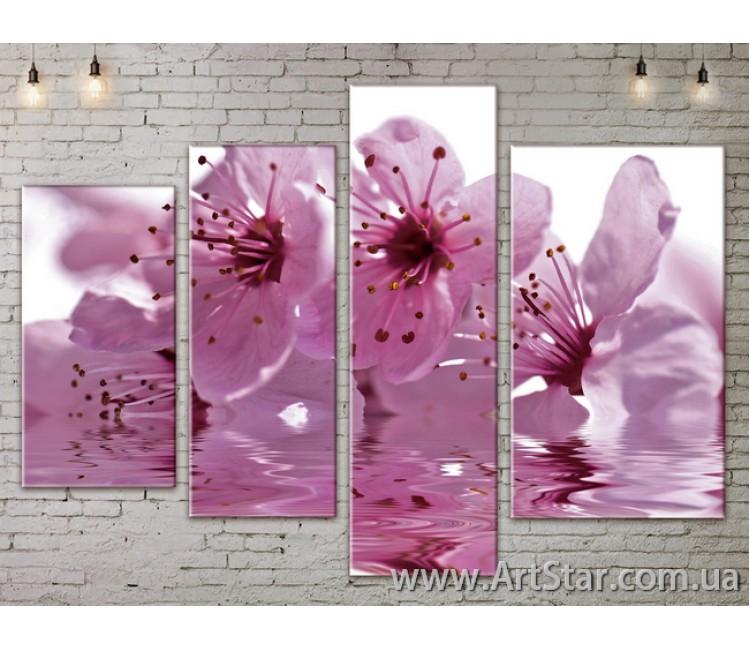 Модульные Картины, Цветы, Art. FLOW777360