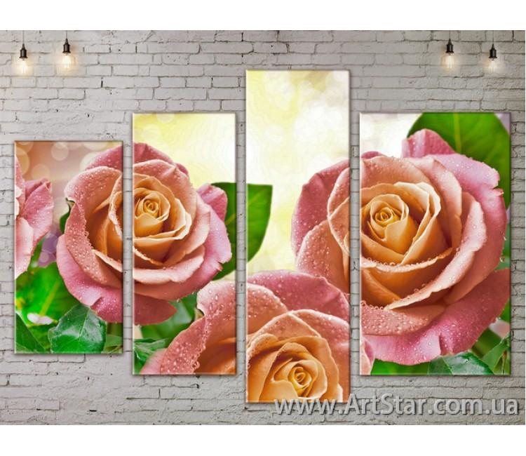 Модульные Картины, Цветы, Art. FLOW777366