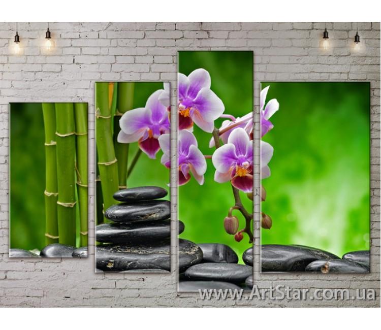 Модульные Картины, Цветы, Art. FLOW777376