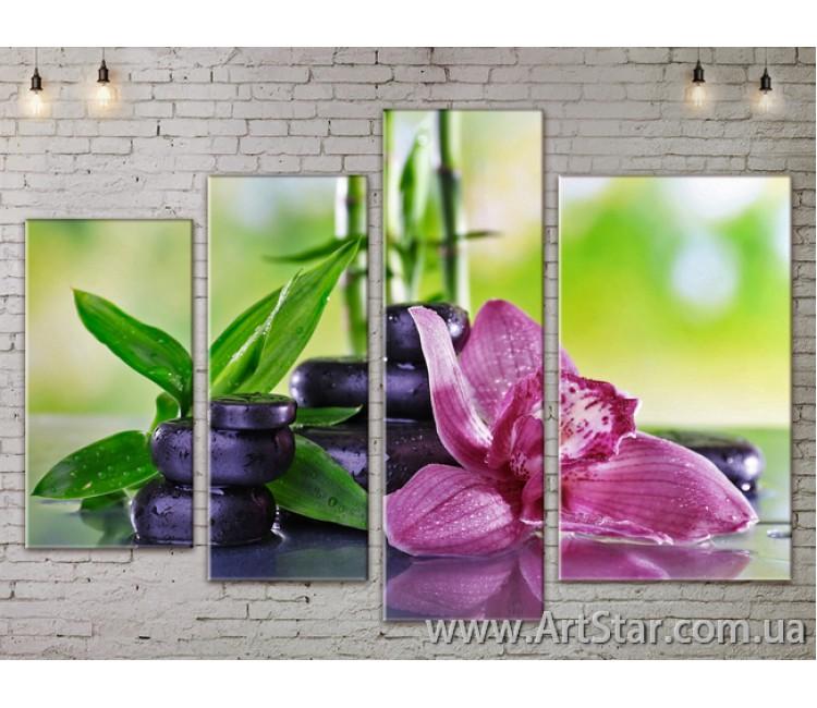 Модульные Картины, Цветы, Art. FLOW777380