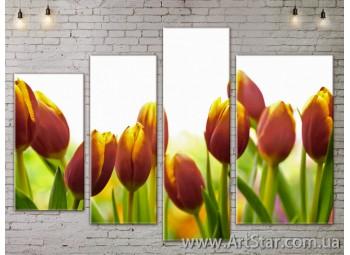 Модульные Картины, Цветы, Art. FLOW777394