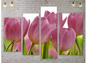 Модульные Картины, Цветы, Art. FLOW777396