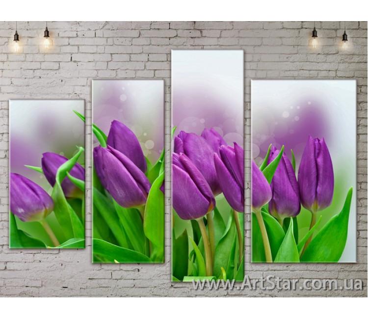 Модульные Картины, Цветы, Art. FLOW777408