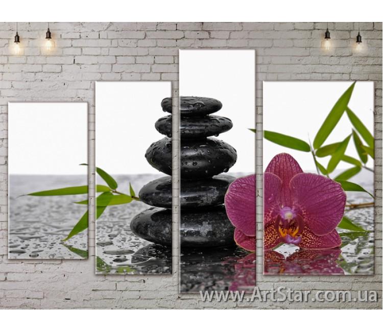 Модульные Картины, Цветы, Art. FLOW777426