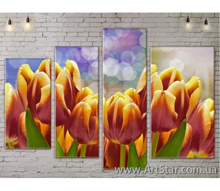 Модульные Картины, Цветы, Art. FLOW777442