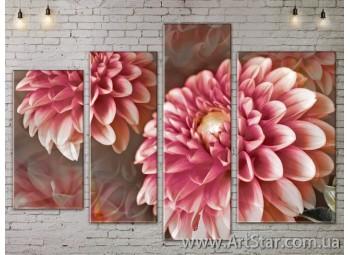 Модульные Картины, Цветы, Art. FLOW777444