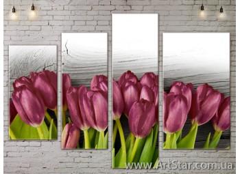 Модульные Картины, Цветы, Art. FLOW777446