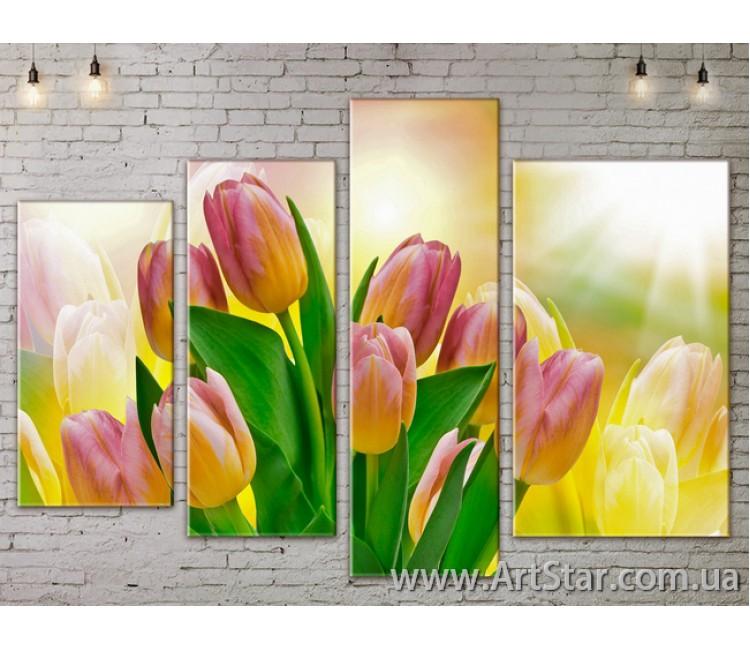 Модульные Картины, Цветы, Art. FLOW777448
