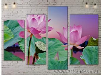 Модульные Картины, Цветы, Art. FLOW777454