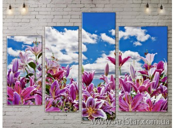 Модульные Картины, Цветы, Art. FLOW777468