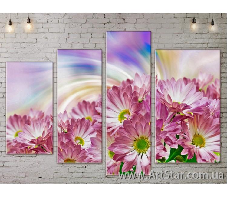 Модульные Картины, Цветы, Art. FLOW777484