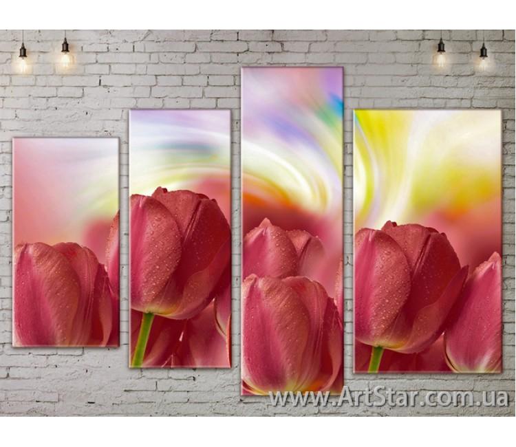 Модульные Картины, Цветы, Art. FLOW777488