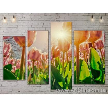 Модульные Картины, Цветы, Art. FLOW777496