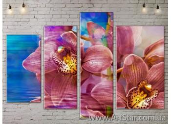 Модульные Картины, Цветы, Art. FLOW777500