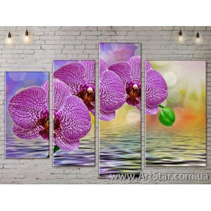 Модульные Картины, Цветы, Art. FLOW777506