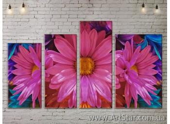 Модульные Картины, Цветы, Art. FLOW777508