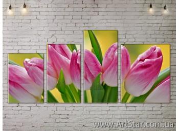 Модульные Картины, Цветы, Art. FLOW777512