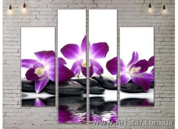 Модульные Картины, Цветы, Art. FLOW777520