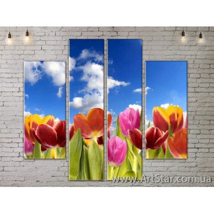 Модульные Картины, Цветы, Art. FLOW777522